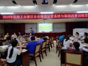 2019年阳和工业新区企业精益运营系统与基础改善训练营圆满结束